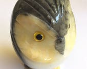 Alabaster Stone Owl Made in Italy Wise Old Owl