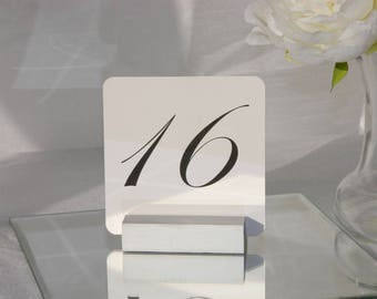 Silver Table Number Holder (Set of 10)
