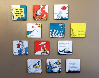 Charmant Dr. Seuss Storybook Wall Art, One Fish Two Fish, Wall Tiles, Nursery