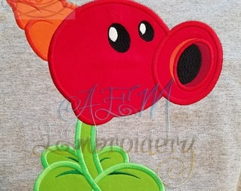 Fire PeaShooter Personalized Shirt or Birthday Shirt with Large Number on the BACK
