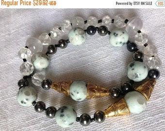 ON SALE Ocean of Samsara / Ocean of Bliss Infinity Double Wrap Yogic Bracelet