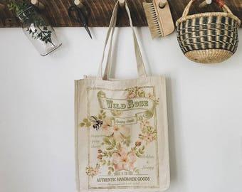 Wild Rose Reusable Shopping Bag