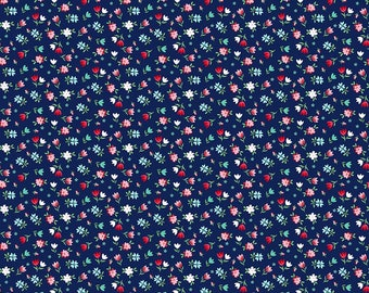 A Little Sweetness by Tasha Noel Floral Navy (C6512-Navy)