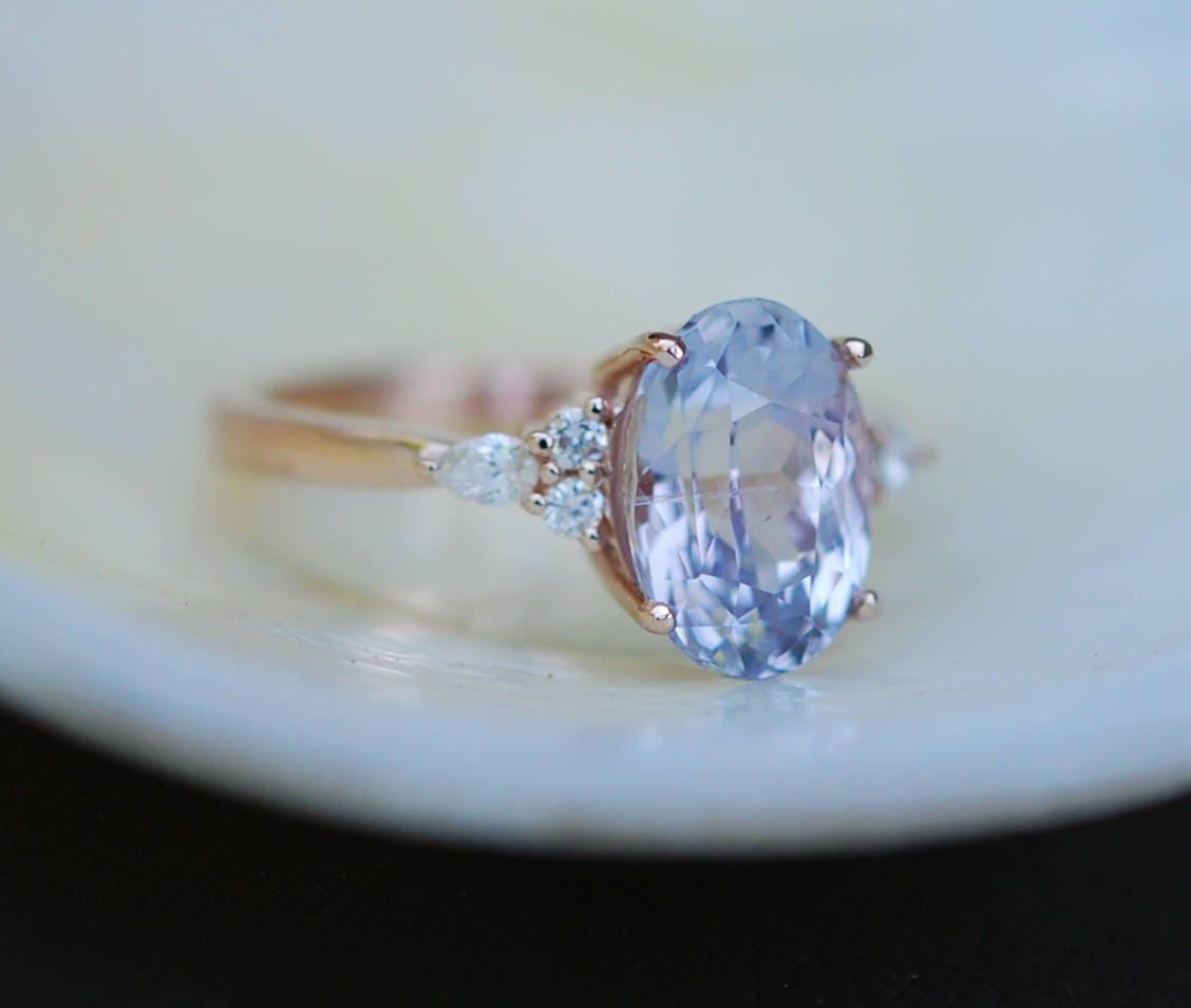 Engagement Ring Rose Gold Engagement Ring Lavender