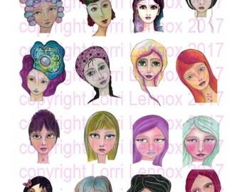 Artivity Collage girls