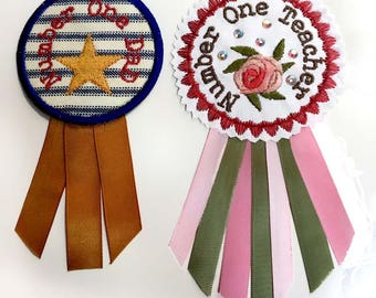 ROSETTE BADGES  Machine embroidery Designs