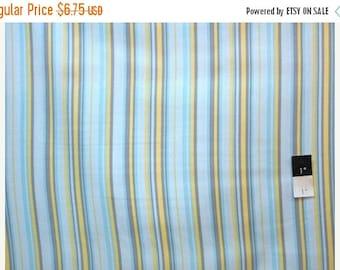 ON SALE Annette Tatum AT49 Soleil Parasol Blue Cotton Fabric 1 Yard
