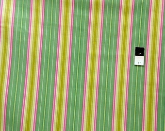 CLEARANCE SALE Heather Bailey OCHB008 Fresh Cut Lounge Stripe Turquoise Cotton Laminate 1 Yd