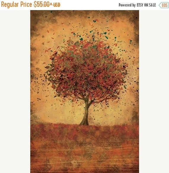 50 off summer sale autumn tree modern wall art welcome for Home decor 50 off