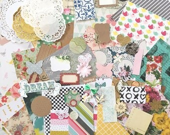 Vintage Floral, Scrapbook Paper and Ephemera Pack, Art Journal, Collage, Scrapbooking, Cards, Kids Craft
