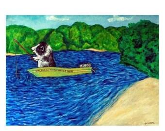20% off Pot Belly Pig Fishing Animal Art Print