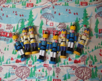 eight wooden little soldier ornaments