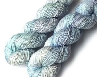 Handdyed Yarn Euro Sock Yarn SW Merino, Periwinkle, 435 yards