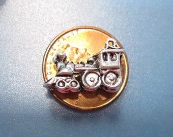 50% Off 10 Train Engine Charms, railroad charm  Antique Silver 9x17mm, C 1137 A17
