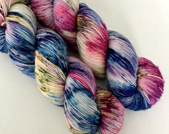 MONET - Hand Dyed Yarn - High Twist Merino Nylon Sock Yarn Fingering - Ready to Ship - Vivid Yarn Studio