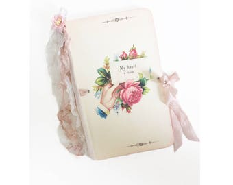 Wedding  Guest Book, Bridal Shower Journal, VowBook, Wedding Journal Log, Guest Register, Garden Wedding, Boho Wedding, Rustic Wedding,