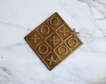 Brass Tic Tac Toe Game