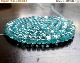 Deep Discount Sale Apatite Gemstone Teal Faceted Rondelle 4mm 65 beads