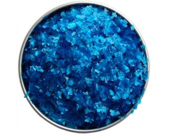 Blue Edible Glitter - sparkly royal blue glittery sprinkles for cakes, cupcakes, and cookies