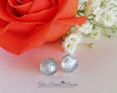 Shimmering Silver Glass S...