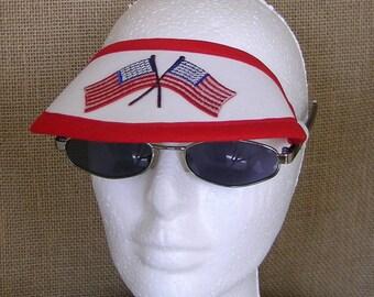 Visor, No Headache Visor, Sunglass Visor, American Flags Visor, Patriotic Visor