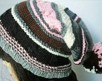 The Neapolitan Pom Pom Hat / Stretch Satin Lined - All Weather Hat