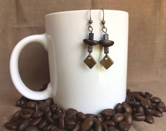 Coffee Bean Earrings - Before the Rainbow - Authentic Coffee Bean Earrings...FREE U.S. SHIPPING