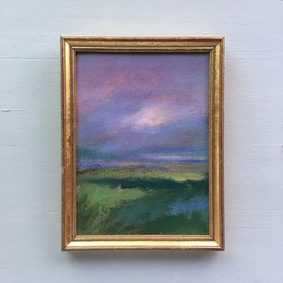 Landscape Painting- Framed- Small Painting - Original Painting- 9 x 7 approx. inch - including Frame - Fine Art