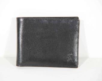 ROBERTA DI CAMERINO Vintage Black Leather Bifold Wallet
