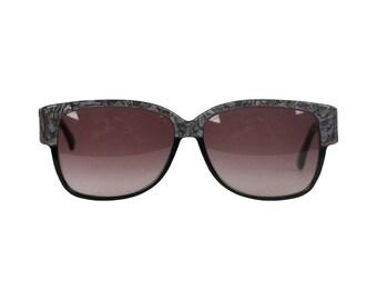EMILIO PUCCI Vintage Black Marbled Sunglasses 88020 EP75 Oversized 60mm NOS