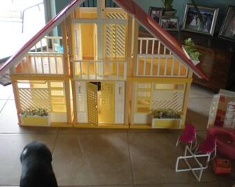 Barbie Doll House, Barbie House 1977, Barbie Dream House, Retro Barbie Doll, Vintage Doll House