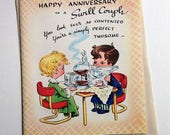 Vintage Anniversary Greeting Card NOS 1940s with Envelope