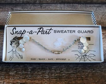 Vintage Snap-a-part sweater guard in original box