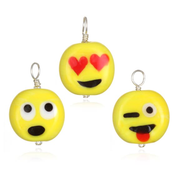 Glass Emoji Pendant Necklace