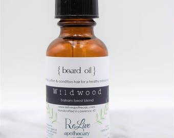 Organic Beard Oil:  W I L D W O O D- a balsam forest blend, vegan