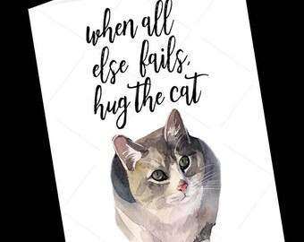 Cat-Cat Greeting Card-Just Because Card