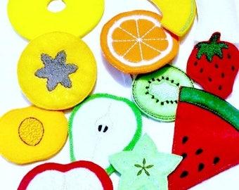SALE Vegetarian felt fruit Play food fruit 11 pieces pretend food Pretend food f kids play kitchen #PF2558
