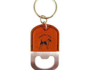 Smooth Fox Terrier Standing Bottle Opener Keychain K3198 - Free Shipping