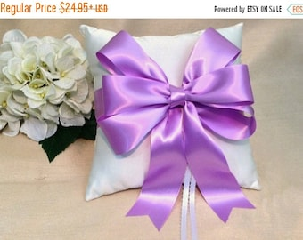 On Sale 20% Off Orchid Ring Bearer Pillow - Ivory Ring Pillow - White Ring Pillow - Orchid Wedding - Ringbearer Pillow - Bridal Pillow  - Cu