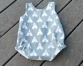 Boys Romper - TeePee - Boys Birthday Outfit - Bubble Romper -  Jon Jon -  Toddler Boy Clothing - Groovy Gurlz