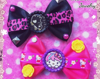 Harajuku Kitty & Punk Rock Penguin Kawaii Hair Bows