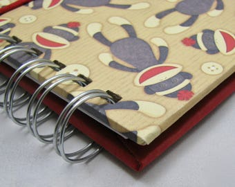 Kid's Wallet/Children's Cash Envelope System/Children's wallet/Kids Cash/ Children's Cash/Junior FPU/Junior Cash Envelope Wallet Sock Monkey