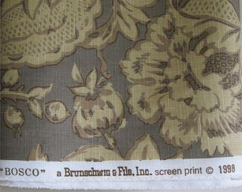 Brunschwig & Fils Vintage Designer Fabric 4 yards Bosco