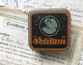Vintage 1920s 1930s deco German Pelikan tin for fountain pen nibs