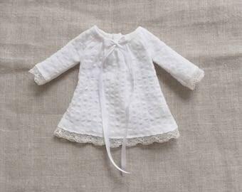 soft white mini dress (long sleeve) for Blythe