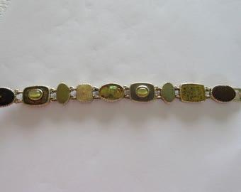 Vintage Goldtone Bracelet Marked LC