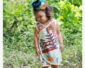 On SALE 55% OFF Baby Dress - Pagoda - Japanese - Summer Dress - Girls Dress - Wrap Dress - Floral Dress - Newborn - Blue - Orange - Pink - N