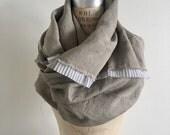 reserved linen Scarf, Pleats, Soft, Summer,