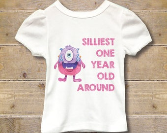 Monsters, First Birthday Shirt, First Birthday Outfit, Girl's First Birthday Shirt, Girls Shirt, 1st Birthday Shirt, Party Shirt, One, Silly