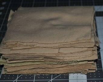 100 Pack 5 inch Beige Cotton Squares Stash Builder Quilting